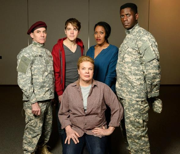 Chris Ceraso (Dulac), Zachary Clarence (Sammy), Catherine Curtin (Cy), Shaun Bennet Fauntleroy (Rose), and Sean Phillips (Cole). Photo by John Kandel.